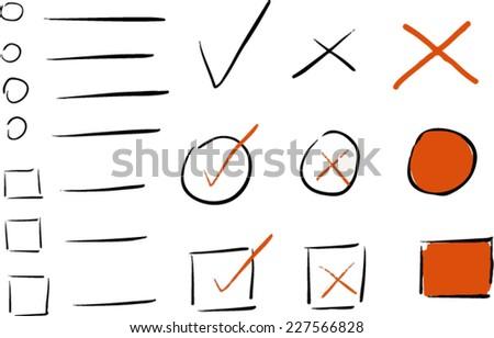 Vector Ticks  - stock vector