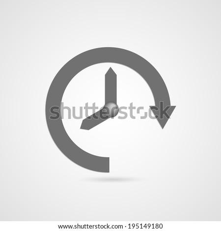 Vector time icon. - stock vector