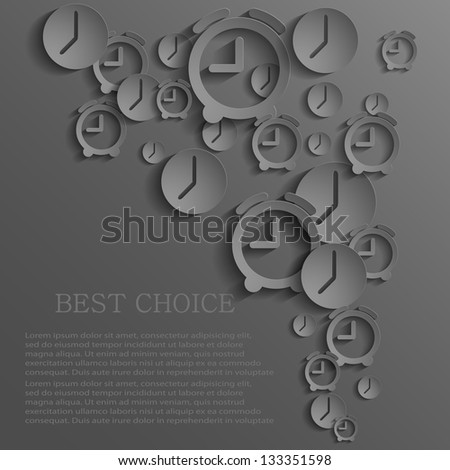 Vector time icon background. Eps10 - stock vector