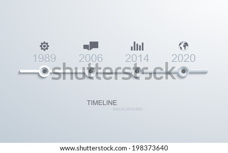 vector timeline infographic element design. Business background. Eps10 - stock vector