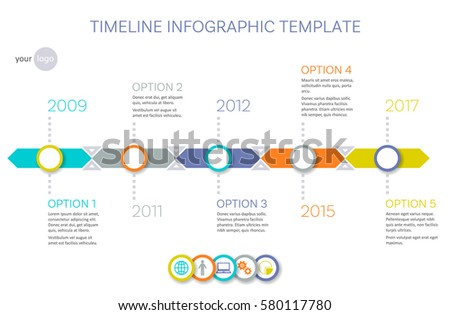 Vector Timeline Infographic Template History Your Stock Vector ...