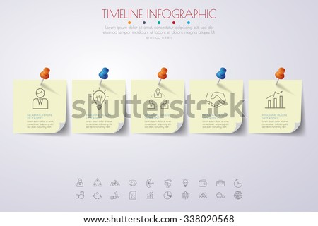 Vector timeline. Timeline Infographic. Company timeline. Timeline with Milestones. Timeline Template. Timeline with retro papers origami. Colorful timeline template. Timeline illustration. - stock vector