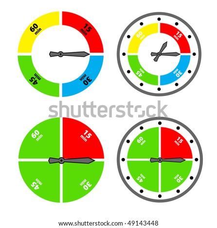 vector timer design - stock vector