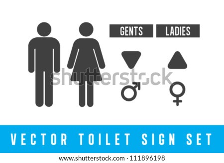 Vector Toilet signs set - stock vector