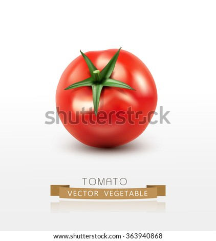 vector tomato isolated on white background - stock vector