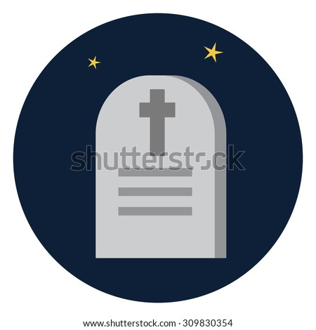 Vector Tombstone icon - stock vector