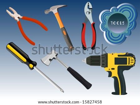 vector tools - stock vector