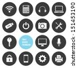 Vector Tools Devices and Technology Icons Set - stock vector
