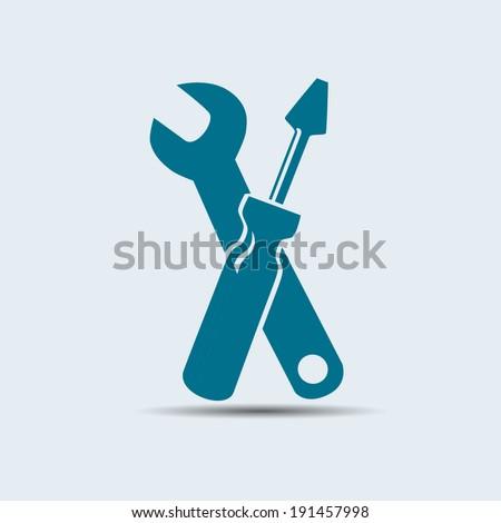 Vector tools icon - stock vector