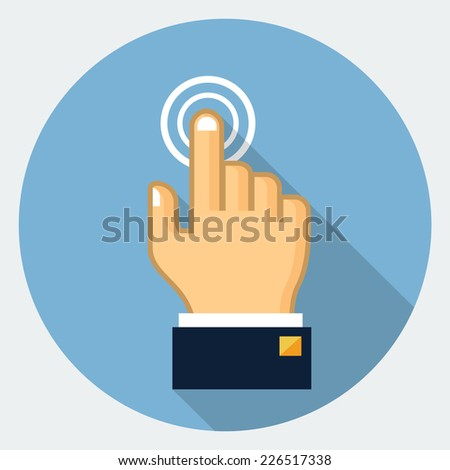 Vector touch finger icon - stock vector