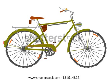 Vector. Touring bike in a retro style on a white background.