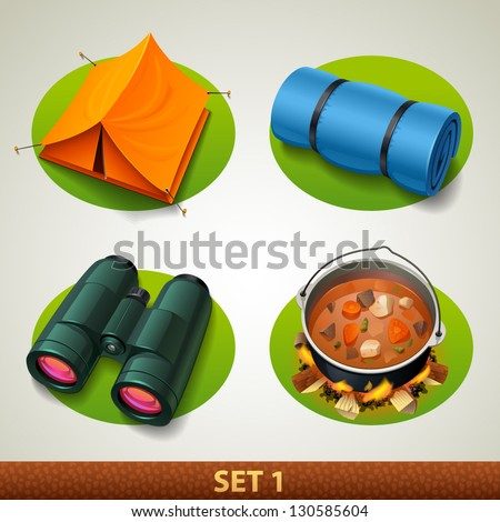 vector tourism icon-set 1 - stock vector
