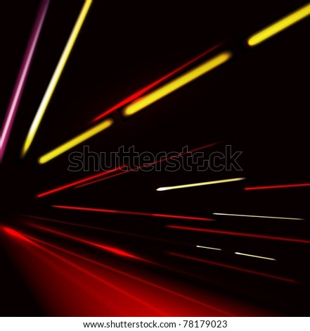 Vector traffic and street lights background - stock vector