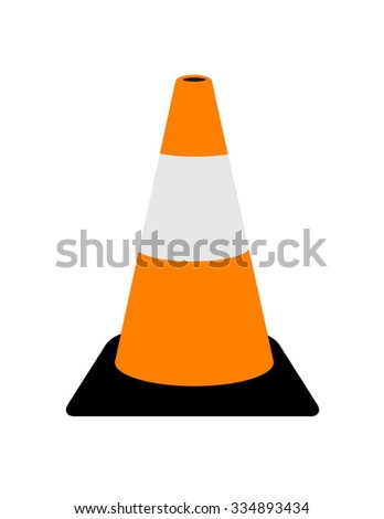 Vector Traffic Cone Graphic - stock vector