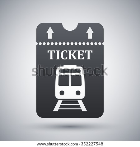 Vector train ticket icon - stock vector