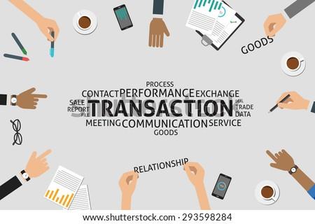 vector transaction concept,template - stock vector