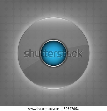 vector transparent glass circle button