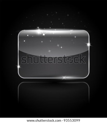 Vector transparent icon - stock vector