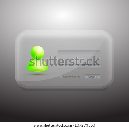 Vector transparent member login form - stock vector
