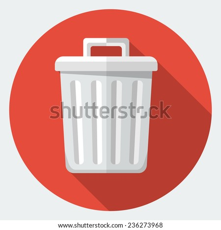 Vector trash icon - stock vector