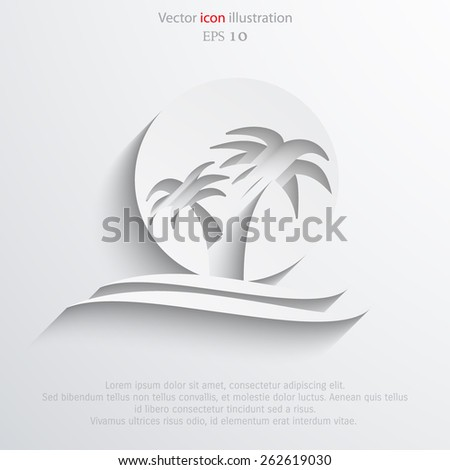Vector travel flat icon illustration. - stock vector
