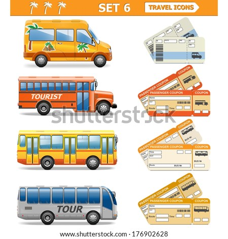 Vector Travel Icons Set 6 - stock vector