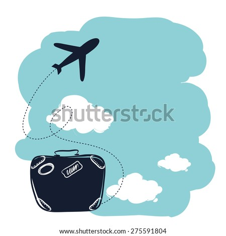 vector travel. Suitcase - stock vector