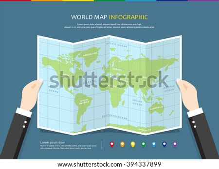 Vector travel world map illustration infographics stock vector hd vector travel world map illustration and infographics design template world map countries communication gumiabroncs Images