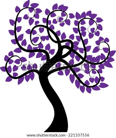vector tree stock vector royalty free 221337556 shutterstock rh shutterstock com Blue Tree Clip Art Blue Tree Clip Art
