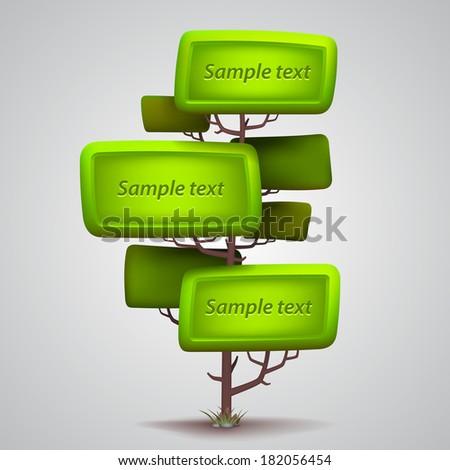 Vector tree banner - stock vector