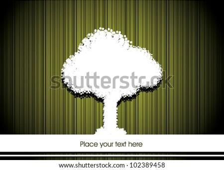 Vector Tree Designer card - stock vector