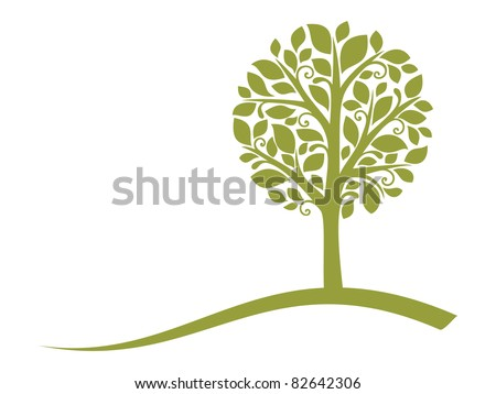 Vector tree emblem 4 - stock vector