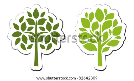 Vector tree emblem 2 - stock vector
