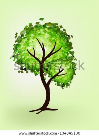 vector tree i - stock vector