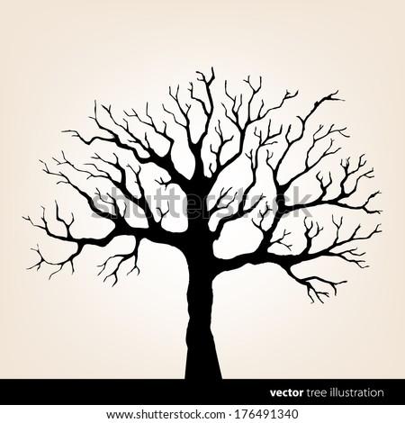 Vector tree illustration - stock vector
