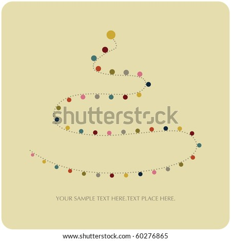 vector tree of christmas background design - stock vector