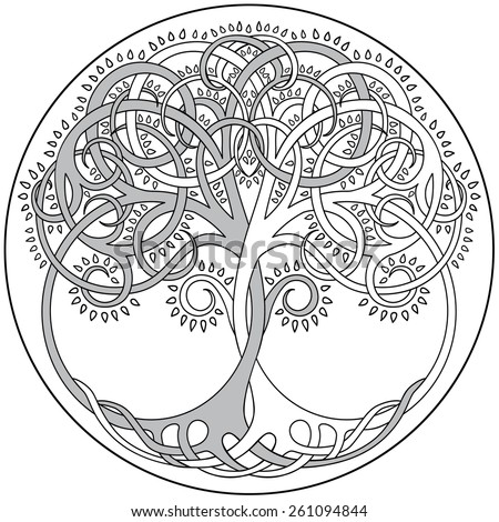 Vector Tree Of Life Emblem - stock vector