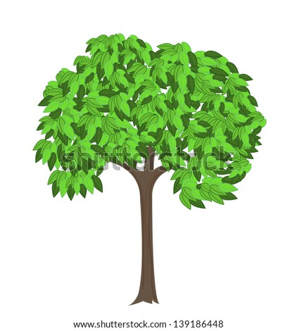 Vector tree on a white background. - stock vector