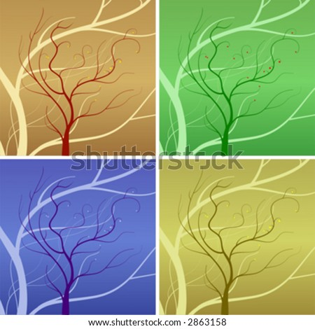 Vector trees, Four Seasons