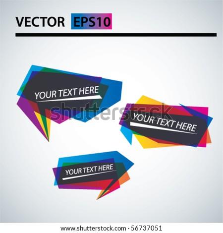 Vector trendy bubbles - stock vector