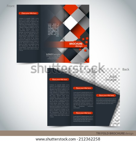Vector Tri Folder Brochure - Leaflet mock up - stock vector
