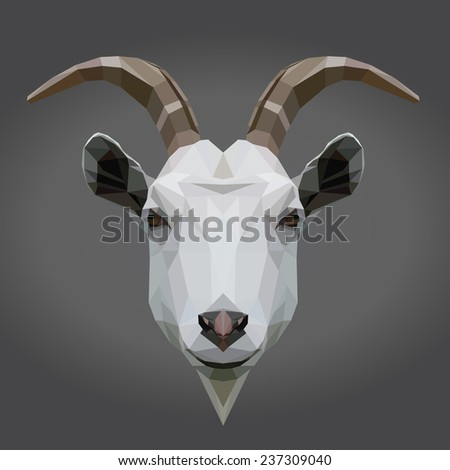 Vector triangle goat. Abstract geometric background.  - stock vector