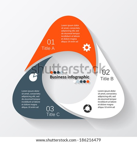 conceptual site model template - vector triangle infographic template diagram graph stock