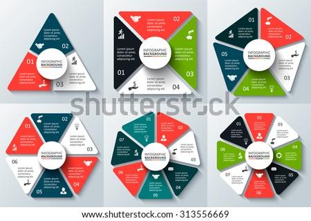 Vector Triangle Square Pentagon Hexagon Heptagon Stock Vector ...