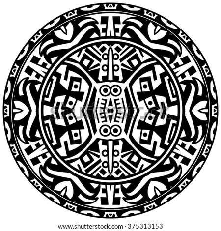 Vector Tribal Ornamental Circle Reminiscent Mayan Stock Vector 2018