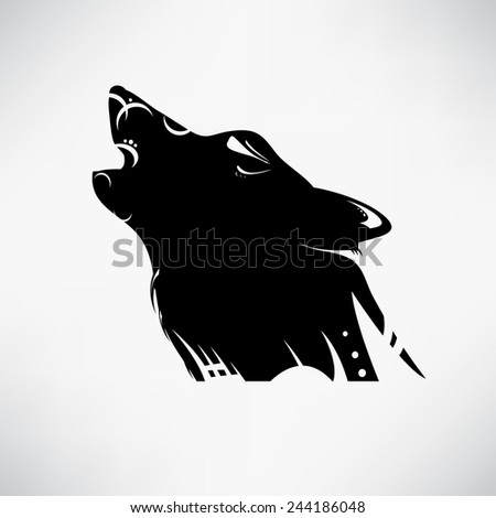 Vector tribal tattoo with wolf - stock vector