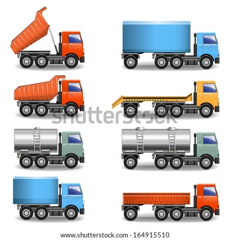 Vector Truck Icons - stock vector