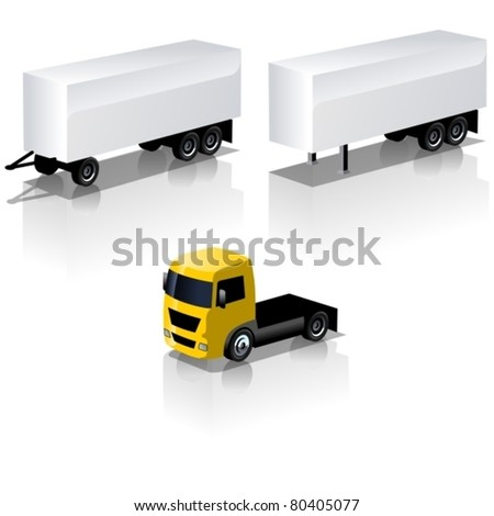 Vector truck icons set - stock vector