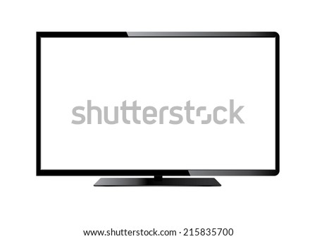 vector tv - stock vector