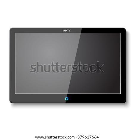 Vector TV Screen on Wall - stock vector